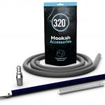 320 carbon hookah hose handle blue