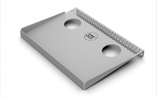 320 hookah prep tray Silver
